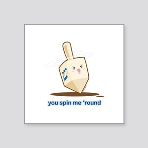 "Dreidel Square Sticker 3"" x 3"""